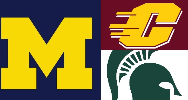 Michigan vs. Central Michigan and Michigan State